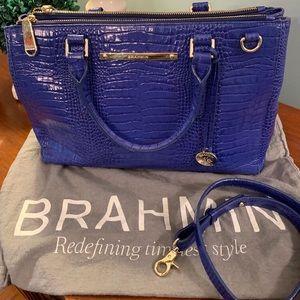 BRAHMIN Vintage Blue Bag EUC
